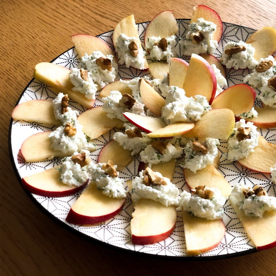 Photo Bouchées pomme fromage